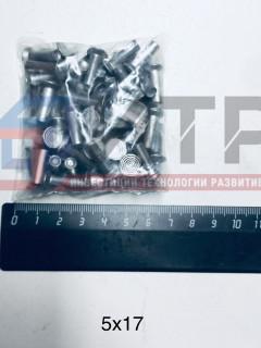 Заклепки алюминиевые ф5х17мм (64 шт.), , компл